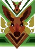 Vector Kangaroo. A cartoon  kangaroo the national personification of Australia Royalty Free Stock Image