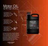 Vector Kanisterölflaschenmaschine, Ölhintergrund, Illustration vektor abbildung