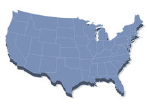 Vector Karte der Staaten von Amerika Stockfotografie