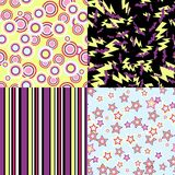 Vector kawaii patterns of Halloween related Stock Image