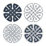 Vector Keltische knoop Etnisch ornament Geometrisch ontwerp Royalty-vrije Stock Foto