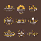 Vector Kennsätze getränke Kaffee Lizenzfreie Stockfotografie