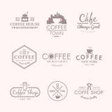 Vector Kennsätze getränke Kaffee Stockfotografie