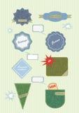 Vector kentekens en etiketten Stock Afbeeldingen