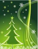 Vector Kerstboom Stock Foto's