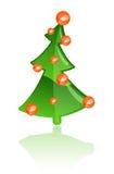 Vector Kerstboom Stock Afbeeldingen