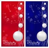 Vector Kerstmis, de achtergrond van het Nieuwjaar Stock Foto's