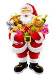 Vector Kerstmis de Kerstman met giften stock illustratie