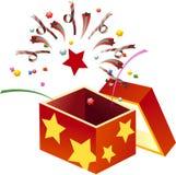 Vector Kerstmis rode doos Royalty-vrije Stock Afbeelding