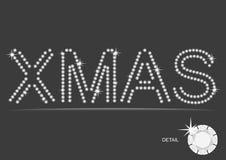Vector Kerstmis van de Diamant Stock Afbeelding