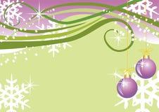 Vector Kerstmisachtergrond met ballen Royalty-vrije Stock Afbeelding