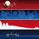 Vector Kerstmisbanners Stock Foto