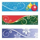 Vector Kerstmisbanners Stock Foto's