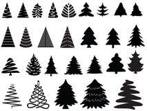 Vector Kerstmisbomen Stock Afbeeldingen