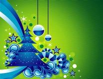 Vector Kerstmisillustratie Royalty-vrije Stock Afbeeldingen