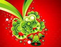 Vector Kerstmisillustratie Stock Foto's
