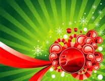 Vector Kerstmisillustratie Royalty-vrije Stock Afbeelding
