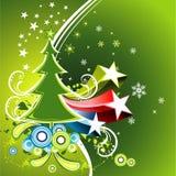 Vector Kerstmisillustratie Stock Fotografie