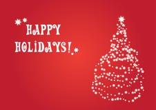 Vector Kerstmiskaart Stock Fotografie