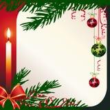 Vector Kerstmiskaart stock illustratie