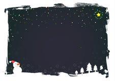 Vector Kerstmiskaart Stock Foto's