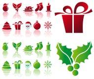 Vector Kerstmispictogrammen royalty-vrije illustratie