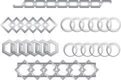 Vector kettingen Royalty-vrije Stock Afbeelding