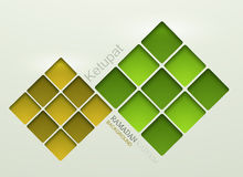 Vector ketupat element design. Royalty Free Stock Image