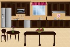 Vector Keuken Royalty-vrije Stock Afbeeldingen