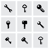 Vector key icon set Stock Images