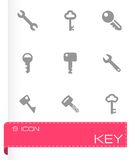 Vector key icon set Royalty Free Stock Images