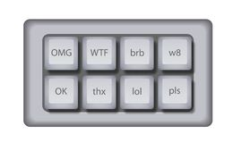 Vector keyboard for gaming slang Stock Photos