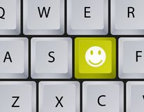 Vector keyboard with smiley button. Eps10 Royalty Free Stock Photo