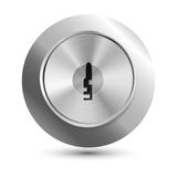 Vector keyhole in round lock Stock Photography