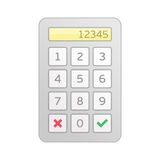 Vector keypad entry. Stock Photo