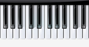 Vector keys piano music instrument. eps10. With transparency Royalty Free Stock Photos