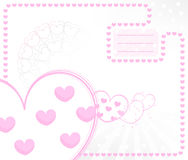 Vector kid card with hearts Royalty Free Stock Image