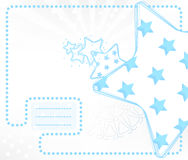 Vector kid card with stars Royalty Free Stock Image