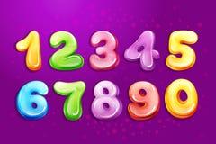 Vector kid numbers bubble cartoon type set royalty free illustration