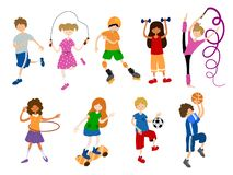 Vector Kids Sports royalty free illustration