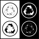 Vector killer whale icons. Black and white. Simply change Stock Image