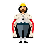Vector King. Flat style colorful Cartoon illustration. Stock Photos