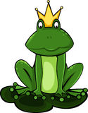 vector King frog illustration Stock Photo