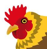 Vector kip die op witte achtergrond wordt geïsoleerdo Royalty-vrije Stock Foto's
