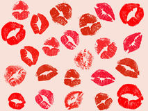 Vector kiss background Royalty Free Stock Image