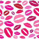 Vector kiss, red lips Stock Photo