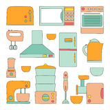 Vector kitchen appliances icon Stock Images