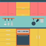 Vector of  Kitchen. Vector of Kitchen colourful eps10 Royalty Free Stock Photo