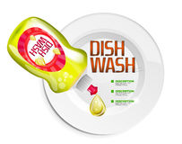 Vector kitchen dish wash ad product package Royalty Free Stock Photography