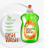 Vector kitchen dish wash ad product package Royalty Free Stock Photos